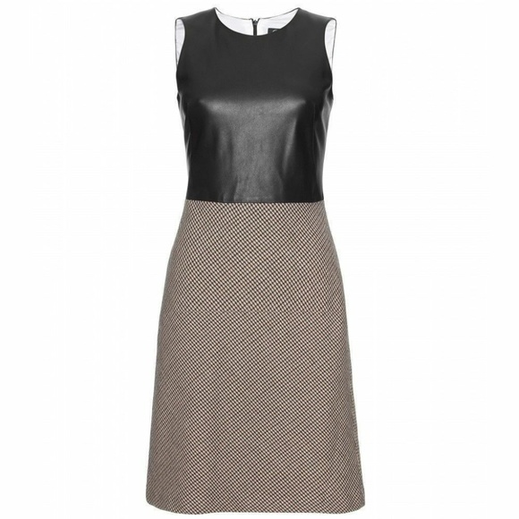 McQ by Alexander McQueen Dresses & Skirts - McQ By Alexander McQueen LEATHER Houndstooth Dress